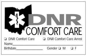 DNR Comfort Care Card